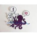 Appliqué pieuvre et voilier (octopus)