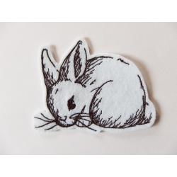 Appliqué thermocollant lapin noir