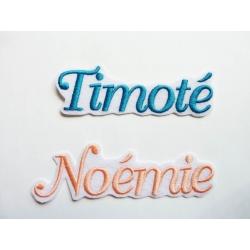 Appliqué, patch prénom Timoté, Noémie