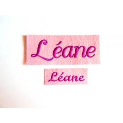 Appliqué, patch prénoms Léane