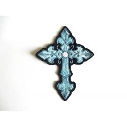 Patch thermocollant croix mauve et gris mauve