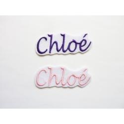 Appliqué, patch prénoms Chloé