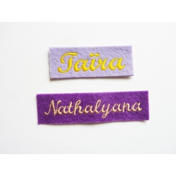 Appliqué, patch prénoms Taïra, Nathalyana