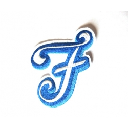 Appliqué, patch lettre majuscule F
