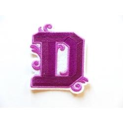 Appliqué, patch lettre majuscule D