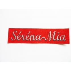 Appliqué, patch prénoms Séréna-Mia