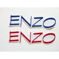 2 Appliqués, patch prénom ENZO