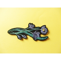 Appliqué patch thermocollant bordure crocus
