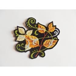 Appliqué patch thermocollant feuilles avec arabesques