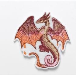 Ecusson broderie dragon ailes déployées