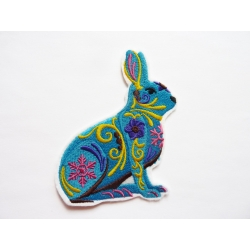 Patch thermocollant lapin bleu