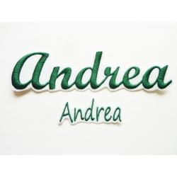 Lot de 2 Appliqués, patch prénom Andrea