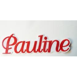 Appliqué patch prénom Pauline