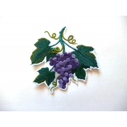 Appliqué fleur patch thermocollant raisin