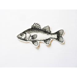 Appliqué poisson thermocollant carpe blanche