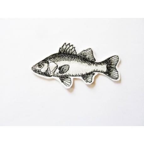 Appliqué poisson thermocollant carpe noire