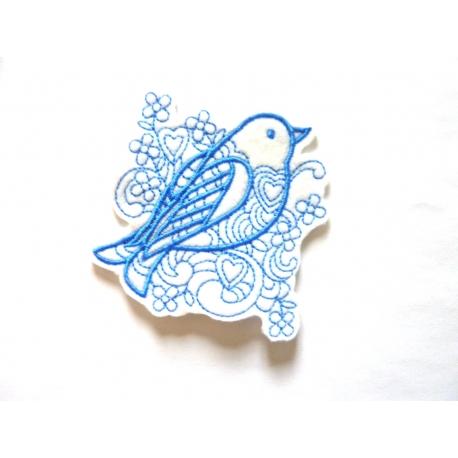 Ecusson oiseau bluework