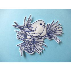 Appliqué thermocollant oiseau bleu