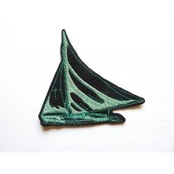 Appliqué thermocollant voilier vert
