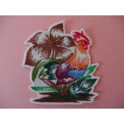 Appliqué oiseau thermocollant coq japonais