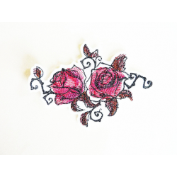 Patch thermocollant roses peintes