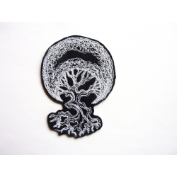 Appliqué patch thermocollant arbre et lune