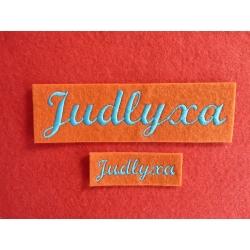 Appliqué, patch prénom Judlyxa