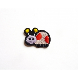 Appliqué patch thermocollant coccinelle