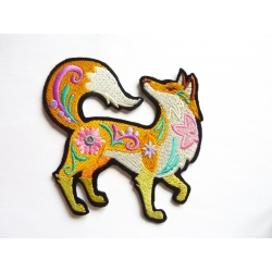 Appliqué thermocollant renard en automne3. Fox patch