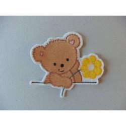 Appliqué ours, patch thermocollant ourson avec des étoiles