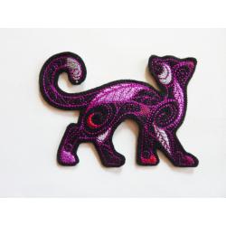 Chat silhouettte doodle noir