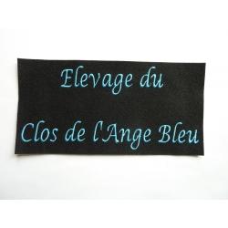 Appliqué, patch prénom Elevge du Clos de l'Ange Bleu