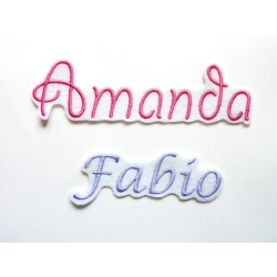 Appliqué patch prénom Amanda, Fabio