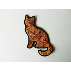 Patch thermocollant silhouette chat (cat)