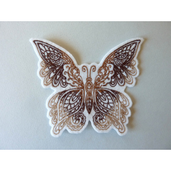 Appliqué thermocollant grand papillon marron
