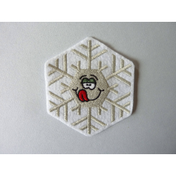 Patch thermocollant flocon de neige