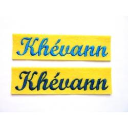 Appliqué, patch prénoms Kévahnn