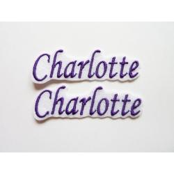 Lot de 2 Prénoms : Charlotte