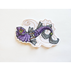 Patch thermocollant ballon poisson steampunk