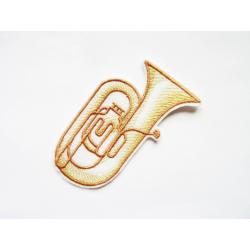 Tuba (instrument de musique) thermocollant