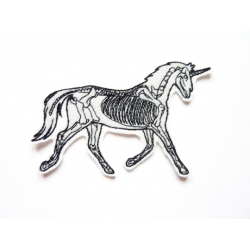 Patch thermocollant squelette de licorne