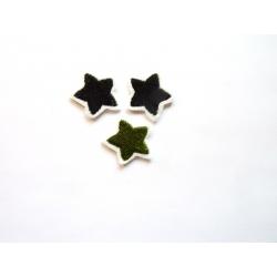 Broderie thermocollante : lot de 3 petites étoiles