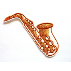 Saxophone (instrument de musique) thermocollant