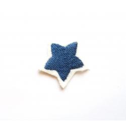 Broderie thermocollante petite étoiles bleu pétrole