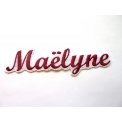 Ecussons prénom Maëlyne