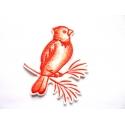 Broderie thermocollante cardinal (oiseau)