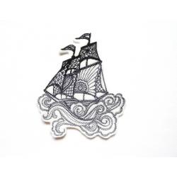 Ecussont voilier bateau ton gris