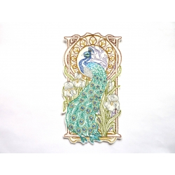 Grand paon Art Nouveau (peacock)