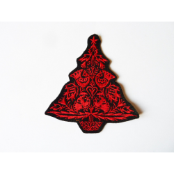 Patch thermocollant sapin de noël rouge