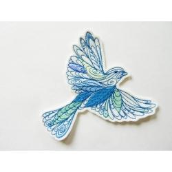 Appliqué patch thermocollant oiseau doodle en vol